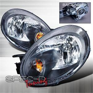 Spec D Euro Head Lights (Black): Dodge Neon 2003 - 2005
