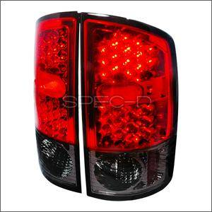 Spec D - Spec D LED Tail Lights (Red): Dodge Ram 2002 - 2006