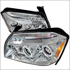 HEMI LIGHTING PARTS - Hemi Headlights - Spec D - Spec D LED projector HeadLights (Chrome): Dodge Magnum 2005 - 2007