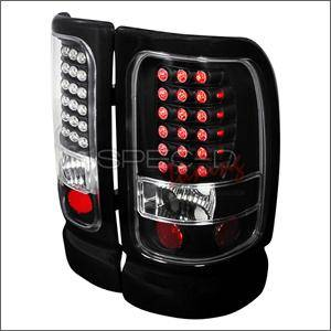 HEMI LIGHTING PARTS - Hemi Tail Lights - Spec D - Spec D LED Tail Lights (Black): Dodge Ram 1994 - 2001