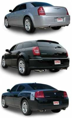 Corsa - Corsa Extreme Cat-Back Exhaust (Polished): Chrysler 300C / Dodge Charger / Magnum 5.7L Hemi 2005 - 2010