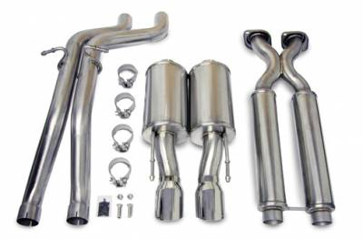 Corsa - Corsa Sport Cat-Back Exhaust (Polished): Jeep Grand Cherokee SRT8 2006 - 2010