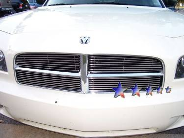 HEMI EXTERIOR PARTS - Hemi Grilles - APS - APS Stainless Steel Billet Grille: Dodge Charger 2006 - 2010 (All Models)