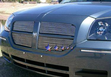 HEMI EXTERIOR PARTS - Hemi Grilles - APS - APS Billet Grille Inserts 4PC (Polished): Dodge Magnum 2005 - 2007 (All Models except SRT8)
