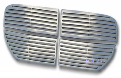 Dodge Magnum Exterior Parts - Dodge Magnum Grille - APS - APS Machined Billet Grille 4PCS: Dodge Magnum 2005 - 2007 (non SRT8)