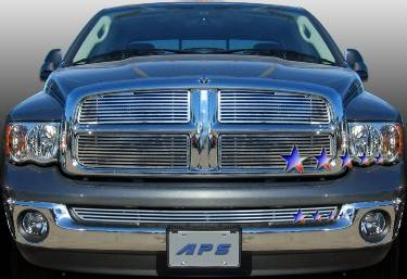 HEMI EXTERIOR PARTS - Hemi Grilles - APS - APS Machined Billet Grille 4PC: Dodge Ram 2002 - 2005