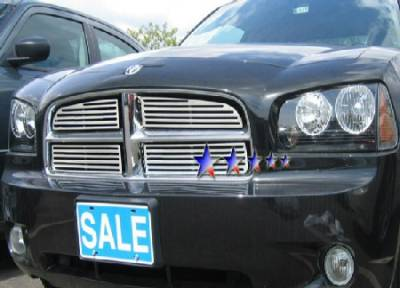 HEMI EXTERIOR PARTS - Hemi Grilles - APS - APS Machined Billet Grille 4PC: Dodge Charger 2006 - 2010 (All Models)