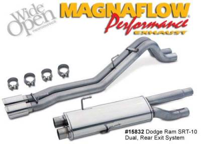 Dodge Ram SRT10 Engine Parts - Dodge Ram SRT10 Exhaust System - Magnaflow - Magnaflow Dual Exhaust System: Dodge Ram SRT10 2004 - 2005