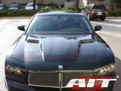 AIT Racing - AIT Racing Challenger Style Functional Cooling Hood: Dodge Charger 2006 - 2010 - Image 4