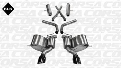 Corsa - Corsa Sport Cat-Back Exhaust (Black): Jeep Grand Cherokee SRT8 2012 - 2018