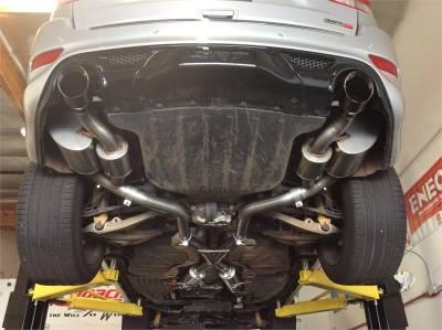 Corsa - Corsa Sport Cat-Back Exhaust (Black): Jeep Grand Cherokee 6.4L SRT 2012 - 2021 - Image 6