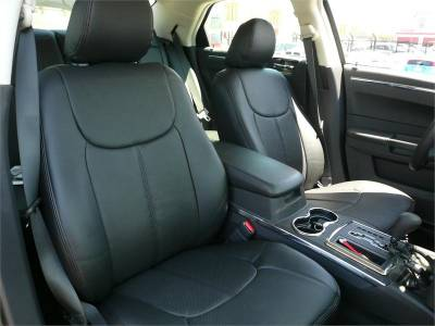 HEMI INTERIOR PARTS - Hemi Seat Covers - Clazzio - Clazzio Leather Seat Covers: Dodge Magnum 2005 - 2008 (SXT)