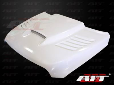 Dodge Ram Exterior Parts - Dodge Ram Hood - AIT Racing - AIT Racing SSK Style Functional Cooling Hood: Dodge Ram 2500 / 3500 2010 - 2014