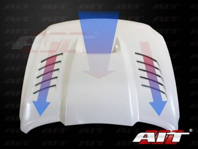 AIT Racing - AIT Racing SSK Style Functional Cooling Hood: Dodge Ram 2500 / 3500 2010 - 2014 - Image 6