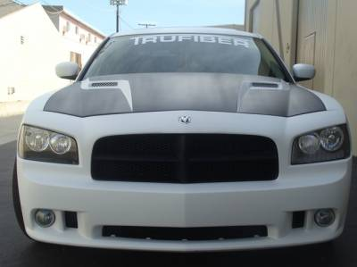Dodge Charger Exterior Parts - Dodge Charger Hood - TruFiber - TruFiber A58 Fiberglass Hood: Dodge Charger 2006 - 2010