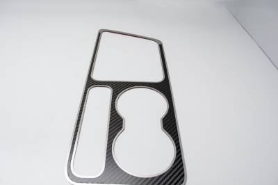 HEMI CARBON FIBER PARTS - Hemi Carbon Fiber Interior - American Car Craft - American Car Craft Carbon Fiber Outer Shift Plate: Dodge Challenger R/T SRT8 2008 - 2014
