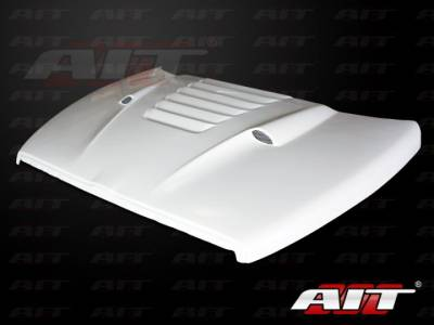 Dodge Ram Exterior Parts - Dodge Ram Hood - AIT Racing - AIT Racing Type-S Functional Ram Air Hood: Dodge Ram 2002 - 2008