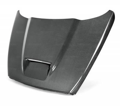 DODGE RAM PARTS - Dodge Ram Carbon Fiber Parts - Anderson Composites - Anderson Composites SRT10 Carbon Fiber Hood: Dodge Ram 2002 - 2008