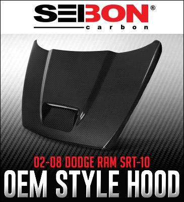 Anderson Composites - Anderson Composites SRT10 Carbon Fiber Hood: Dodge Ram 2002 - 2008 - Image 2