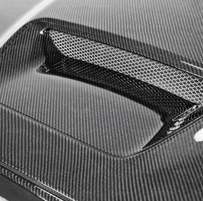 Anderson Composites - Anderson Composites SRT10 Carbon Fiber Hood: Dodge Ram 2002 - 2008 - Image 4