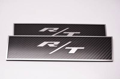 American Car Craft - American Car Craft Carbon Fiber Door Badge (R/T): Dodge Challenger R/T 2008 - 2021 - Image 2