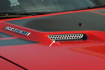 HEMI EXTERIOR PARTS - Hemi Grilles - American Car Craft - American Car Craft Hood Scoop Overlay: Dodge Challenger 2008 - 2014 (All Models)