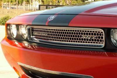 HEMI EXTERIOR PARTS - Hemi Grilles - American Car Craft - American Car Craft Upper Grille Overlay: Dodge Challenger 2008 - 2014