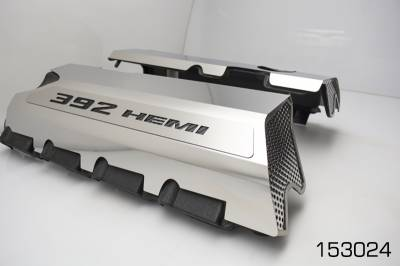 "American Car Craft - American Car Craft ""392"" Polished Fuel Rail Covers: 300 / Challenger / Charger 6.4L SRT8 2011 - 2020 - Image 3"