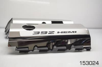 "American Car Craft - American Car Craft ""392"" Polished Fuel Rail Covers: 300 / Challenger / Charger 6.4L SRT8 2011 - 2020 - Image 4"