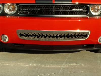 "American Car Craft - American Car Craft Polished ""Shark Tooth"" Lower Front Grille: Dodge Challenger R/T SRT8 2008 - 2014 - Image 2"