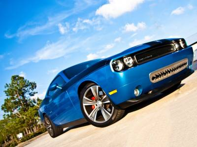 """American Car Craft - American Car Craft Polished """"Shark Tooth"""" Lower Front Grille: Dodge Challenger R/T SRT8 2008 - 2014 - Image 3"""
