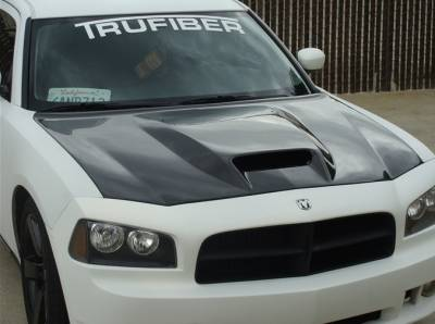 Dodge Charger Exterior Parts - Dodge Charger Hood - TruCarbon - TruCarbon A23 Carbon Fiber Hood: Dodge Charger 2005 - 2010