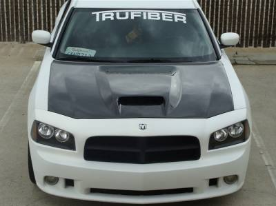 TruCarbon - TruCarbon A23 Carbon Fiber Hood: Dodge Charger 2005 - 2010 - Image 4