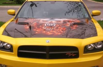 TruCarbon - TruCarbon A58 Carbon Fiber Hood: Dodge Charger 2006 - 2010 - Image 2