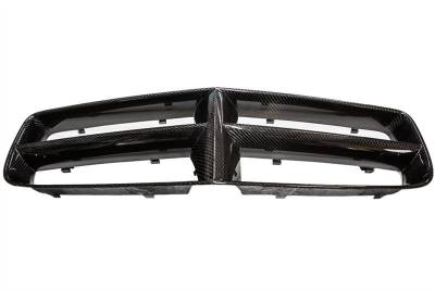 HEMI EXTERIOR PARTS - Hemi Trim Accessories - TruCarbon - TruCarbon LG154 Carbon Fiber Grille: Dodge Charger 2006 - 2010