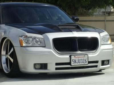 Dodge Magnum Exterior Parts - Dodge Magnum Hood - TruCarbon - TruCarbon A23 Carbon Fiber Hood: Dodge Magnum 2005 - 2007