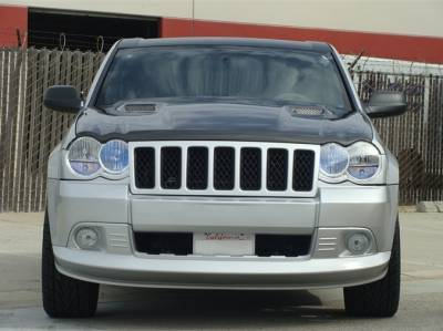 Jeep Grand Cherokee Exterior Parts - Jeep Grand Cherokee Hood - TruCarbon - TruCarbon A58 Carbon Fiber Hood: Jeep Grand Cherokee 2005 - 2010