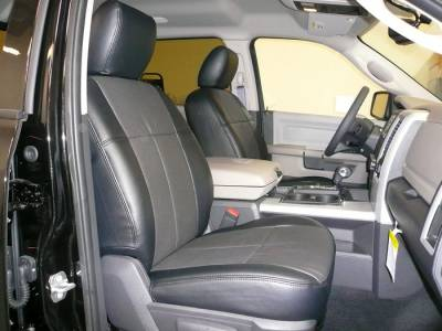 Clazzio - Clazzio Leather Seat Covers: Dodge Ram 2011 - 2012 (Crew & Quad Cab w/ Rear Bench Seat)