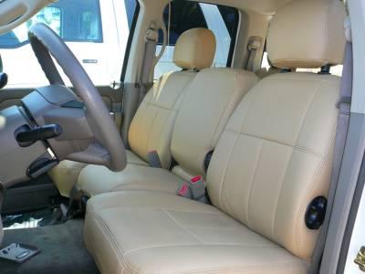 Clazzio - Clazzio Leather Seat Covers: Dodge Ram 2011 - 2012 (Crew & Quad Cab w/ Rear Bench Seat) - Image 2