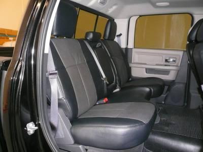 Clazzio - Clazzio Leather Seat Covers: Dodge Ram 2011 - 2012 (Crew & Quad Cab w/ Rear Bench Seat) - Image 3