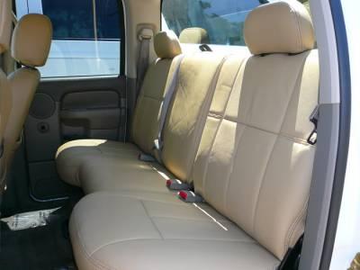 Clazzio - Clazzio Leather Seat Covers: Dodge Ram 2011 - 2012 (Crew & Quad Cab w/ Rear Bench Seat) - Image 4