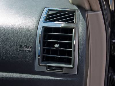 American Car Craft - American Car Craft A/C Vent Trim Outer 2Pc Polished/Brushed: 300C / Charger / Magnum 2005 - 2010 - Image 3