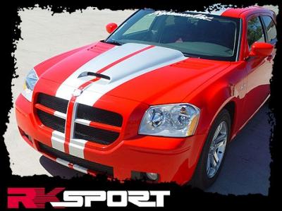 Dodge Magnum Exterior Parts - Dodge Magnum Hood - RK Sport - RK Sport Ram Air Hood: Dodge Magnum 2005 - 2007