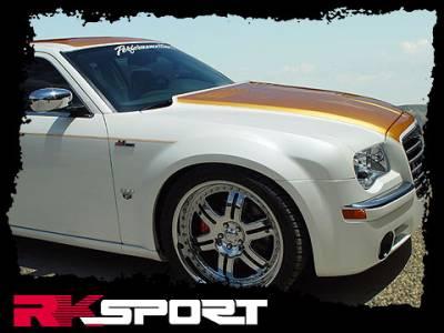 Chrysler 300 Exterior Parts - Chrysler 300 Hood - RK Sport - RK Sport Cowl Hood (Fiberglass): Chrysler 300 / 300C 2005 - 2010