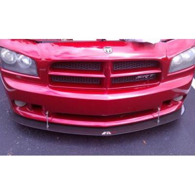 HEMI EXTERIOR PARTS - Hemi Lips & Side Skirts - APR - APR Carbon Fiber Front Wind Splitter w/ Rods: Dodge Charger SRT8 2006 - 2010