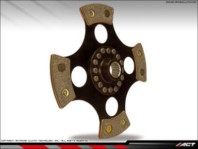 ACT - ACT 4-Puck Race Clutch Kit (Heavy Duty Pressure Plate / Solid Hub): Dodge Neon SRT4 2003 - 2005 - Image 2