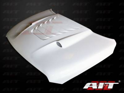 Dodge Ram Exterior Parts - Dodge Ram Hood - AIT Racing - AIT Racing Type-S Functional Ram Air Hood: Dodge Ram 2009 - 2012