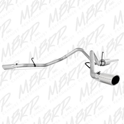 "MBRP - MBRP Cat-Back 3"" Dual Split Side Exhaust: Dodge Ram 5.7L Hemi 2006 - 2008 (Single or Crew Cab / Shortbed)"
