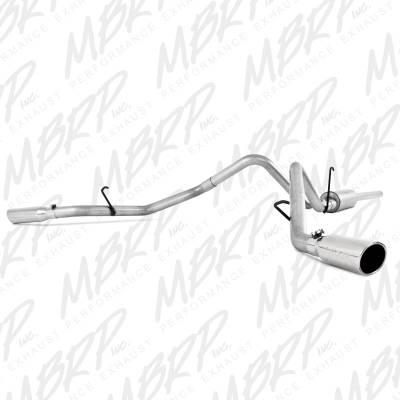 "MBRP - MBRP Cat-Back 3"" Dual Split Side Exhaust: Dodge Ram 5.7L Hemi 2006 - 2008 (Single or Crew Cab / Shortbed) - Image 1"
