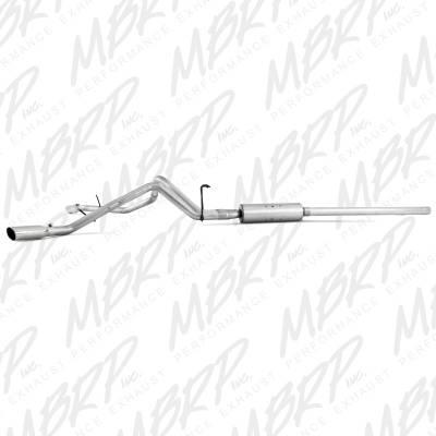 "MBRP - MBRP Cat-Back 3"" Dual Split Side Exhaust: Dodge Ram 5.7L Hemi 2006 - 2008 (Single or Crew Cab / Shortbed) - Image 2"
